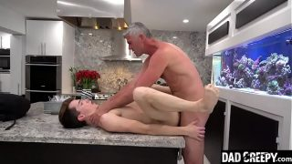 Stepson Bends Over And Lets His Pervy Stepdad Stick A Tongue In His Tight Hole – Alex Meyer, President Oaks