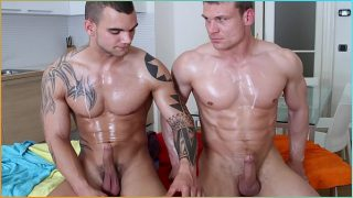 GAYWIRE – Oil Massage And Gay Anal Sex With Drago Lembeck & James